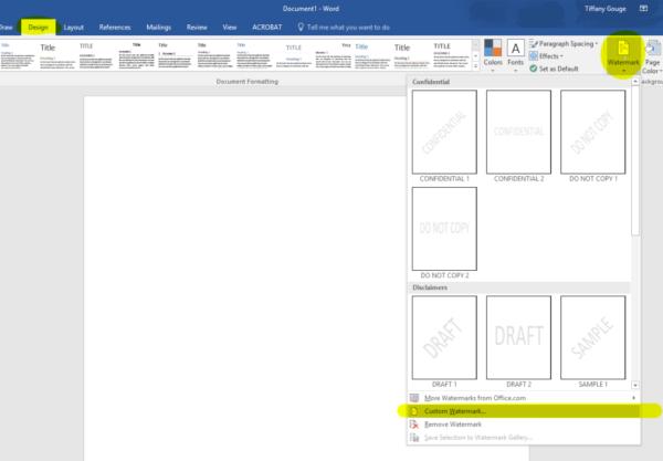 Create a letterhead - step 1