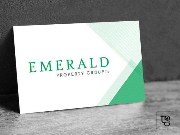 Emerald property group business card design