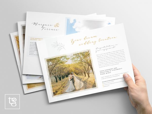 Wedding Brochure for Stockman's Ridge Wines