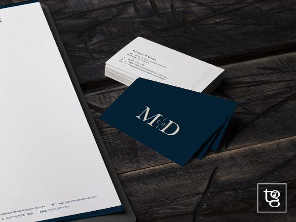 Logo and business card design for Marksman Design Co