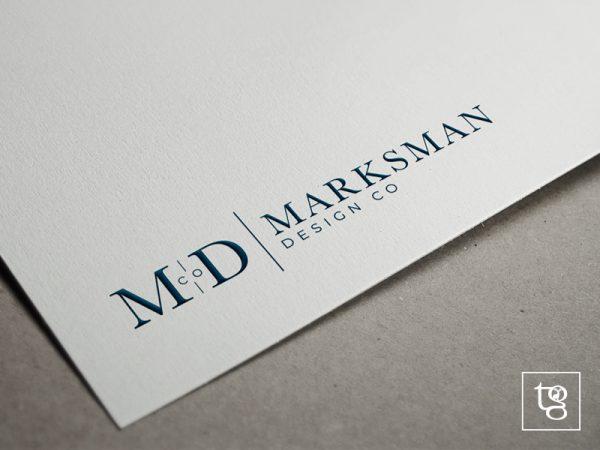 marksman design co logo design orange