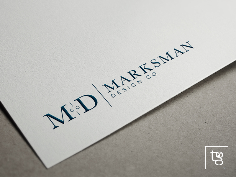 marksman design co logo design orange