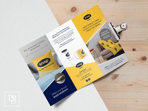 3 fold brochure design for Snap Robina