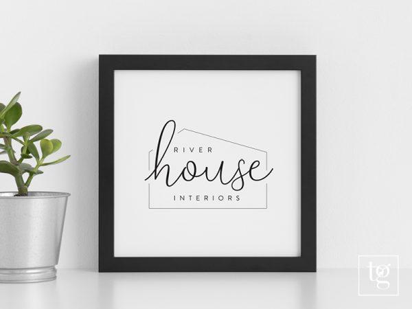 River House Interiors Logo Design