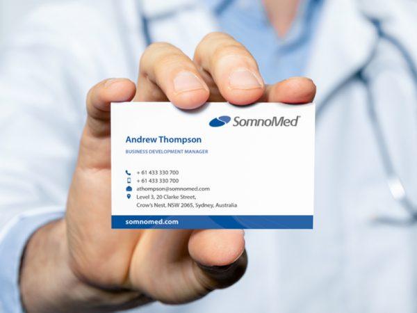 SomnoMed business card design